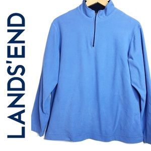 Lands' End Fitness Fleece Pullover Quarter-Zip Md